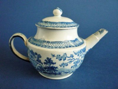 Rare Pearlware Blue and White Child's Teapot c1810 (Sold)